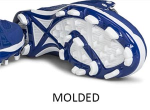 Molded vs Metal Softball Cleats