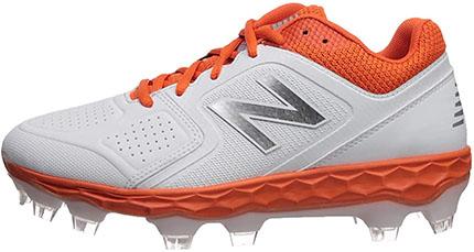New Balance Women's Fresh Foam Velo V1 TPU Molded Shoe For Softball Orange/White